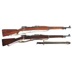 Two U.S. Bolt Action Rifles -A) Rock Island Arsenal Model 1903 Bolt Action Rifle