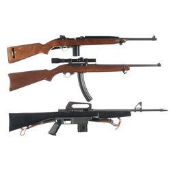 Three Semi-Automatic Long Guns -A) Universal Model 1000 Military Carbine