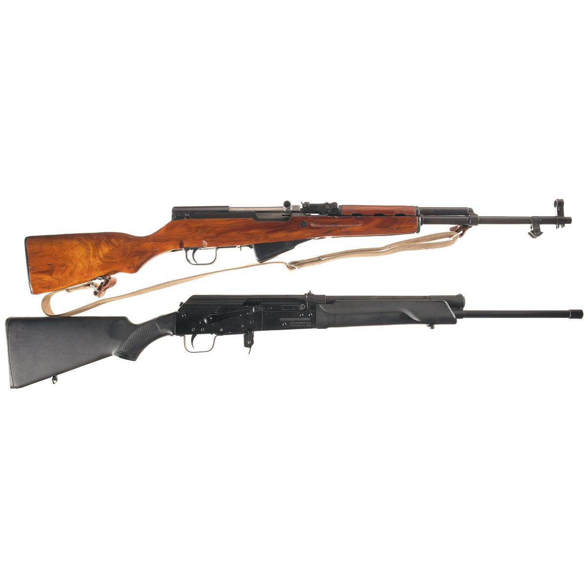 Norinco Mail: Two Semi-Automatic Long Guns -A) Chinese Norinco SKS Semi