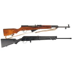 Two Semi-Automatic Long Guns -A) Chinese Norinco SKS Semi-Automatic Rifle with Sling