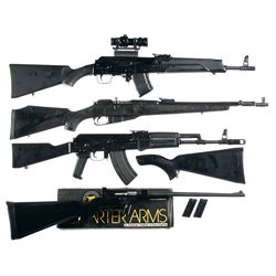 Four Rifles -A) Saiga AK-47 Semi-Automatic Rifle with Sporter Scope