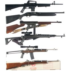 Five Semi-Automatic Rifles and One Shotgun -A) Arms Corporation of the Philippines Model 1600 Semi-A