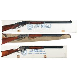 Three Italian Reproduction Lever Action Rifles -A) Uberti Reproduction Model 1873 Lever Action Rifle
