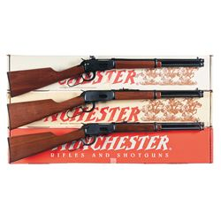 Three Boxed Winchester Model 94 Trapper Lever Action Rifles -A) Winchester Model 94 Trapper Lever Ac
