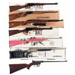 Six Rifles and One Shotgun -A) Henry Lever Action Rifle with Box