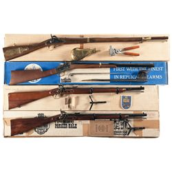 Four Boxed Replica Long Guns -A) Navy Arms Company Model 1841 Percussion Rifle