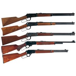Five Lever Action Long Guns -A) Winchester Model 94 Classic Lever Action Carbine