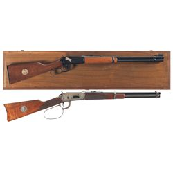 Two Winchester Commemorative Lever Action Carbines -A) Winchester Model 94 Northfield Bank Raid Comm