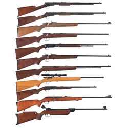 Eleven Longarms -A) Winchester Model 1890 Slide Action Rifle