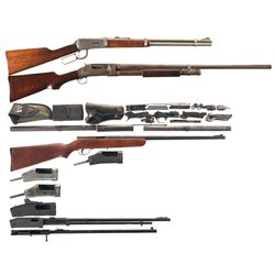 One Carbine, One Shotgun and Seven Receivers -A) Winchester Model 94 Lever Action Carbine with Firea