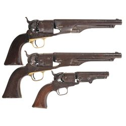 Three Colt Percussion Revolvers -A) Colt Model 1860 Army Percussion Revolver