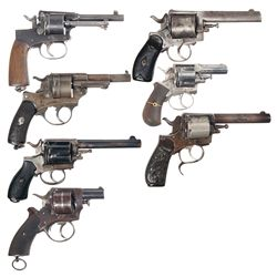 Seven European Double Action Revolvers -A) Leopold Gasser Model 1898 Double Action Revolver