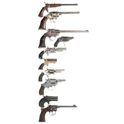 Lot of Ten Handguns -A) German Single Shot Pistol