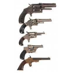 Five Handguns -A) Marlin 38 Standard Model 1878 Single Action Revolver with Ammunition