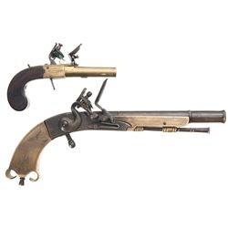 Two George Goodwin Flintlock Pistols -A) George Goodwin Flintlock Pistol