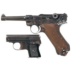 Two German Pistols -A) Erfurt 1918 Dated Luger Pistol