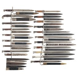 Twenty-Four Bayonets and a Large Knife