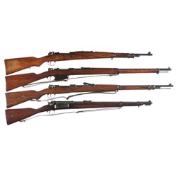 Four Military Bolt Action Longarms -A) Yugoslavian Contract Mauser Model 1924 Bolt Action Rifle