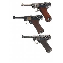 Three Luger Semi-Automatic Pistols -A) 1920 DWM Commercial Luger Semi-Automatic Pistol