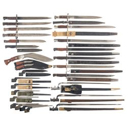 Grouping of Mostly British Bayonets