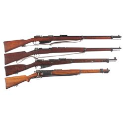 Four Military Bolt Action Rifles -A) Steyr Gewehr 88 Bolt Action Rifle