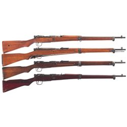 Four WWII Japanese Type 99 Bolt Action Rifles -A) Tokyo Juki KogyoType 99 Last Ditch Bolt Action Rif