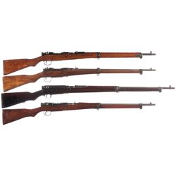 Four WWII Japanese Bolt Action Rifles -A) Nagoya Type 99 Bolt Action Rifle