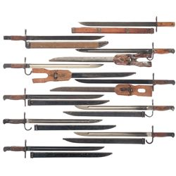 Ten WWII Japanese Bayonets