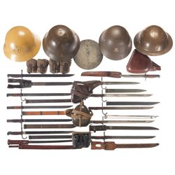 WWII Bayonets, Helmets, and Field Gear, Mostly Imperial Japanese