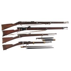 Three Bolt Action Rifles and One Carbine -A) Mauser Improved Model 1871 Bolt Action Rifle