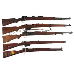 "Five European Military Longarms -A) Pre-War Mauser ""42"" Code 1938 Date 98K Bolt Action Rifle"