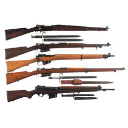 Five Military Longarms -A) Mauser Model 1909 Argentine Bolt Action Carbine with Bayonet