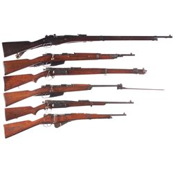 Six Bolt Action Military Longarms -A) Remington French Contract Model 1907-15 Bolt Action Rifle