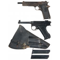Two Semi-Automatic Pistols -A) Rare Star Model A Semi-Automatic Pistol