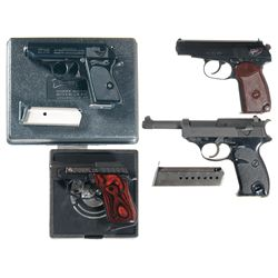Four Semi-Automatic Pistols -A) Interarms Produced Walther Model PPK Semi-Automatic Pistol with Case
