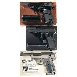 Three Semi-Automatic Pistols -A) Walther P4 Semi-Automatic Pistol with Box
