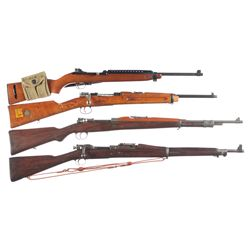 Four Long Guns -A) National Ordnance M1 Carbine with Magazine Pouch