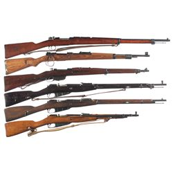 Six Bolt Action Military Longarms -A) Swedish Mauser Model 1896 Bolt Action Rifle