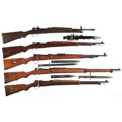 Five Bolt Action Military Rifles -A) Spanish FR8 Bolt Action Rifle with Bayonet
