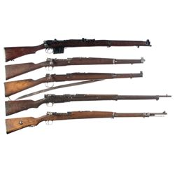 Five Military Bolt Action Longarms -A) Ishapore Model 2A Bolt Action Rifle