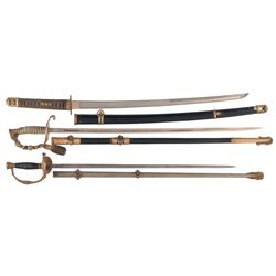 Regulation U.S. Navy Officers Sword with Inscribed Blade and Bullion Saber Knot, U.S. Model 1860 Sta