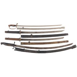 Four Japanese-Style Swords