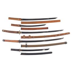 Five Japanese Swords