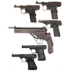 Five Semi-Automatic Pistols and One Air Gun -A) Harrington & Richardson Self-Loader Semi-Automatic P