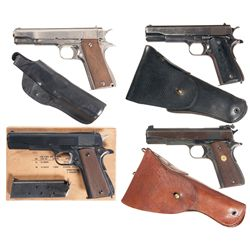 Four Semi-Automatic Pistols -A) Llama Model IX Semi-Automatic Pistol