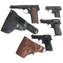 Four Semi-Automatic Pistols -A) Astra Model 600/43 Semi-Automatic Pistol with Holster