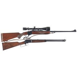 Two Sporting Rifles -A) Ruger No. 1 Falling Block Rifle with Scope and Sling