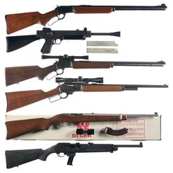Six Long Guns -A) Marlin Model 39A Lever Action Rifle