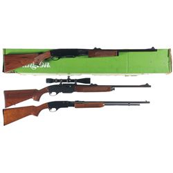 Three Remington Rifles -A) Remington Model 760 Gamemaster Slide Action Rifle with Box