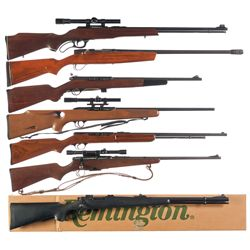 Six Rifles and One Shotgun -A) Marlin Model 57M Lever Action Rifle with Scope